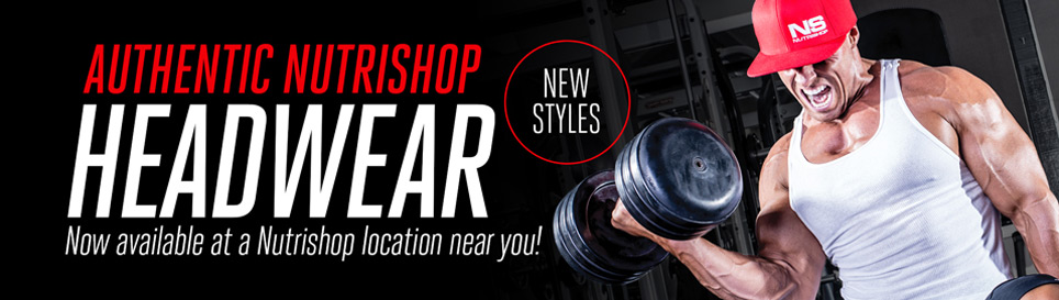Authentic Nutrishop Headwear - Now available at a Nutrishop location near you!