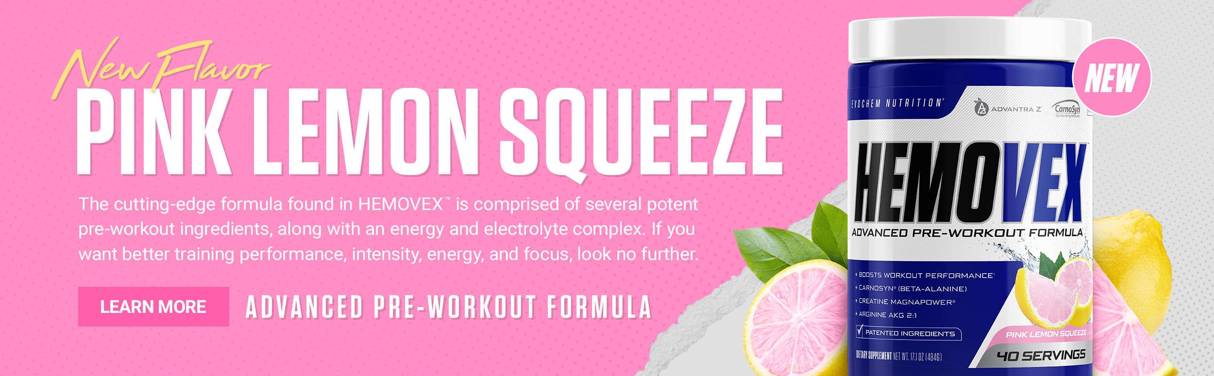Hemovex Pink Lemon Squeeze