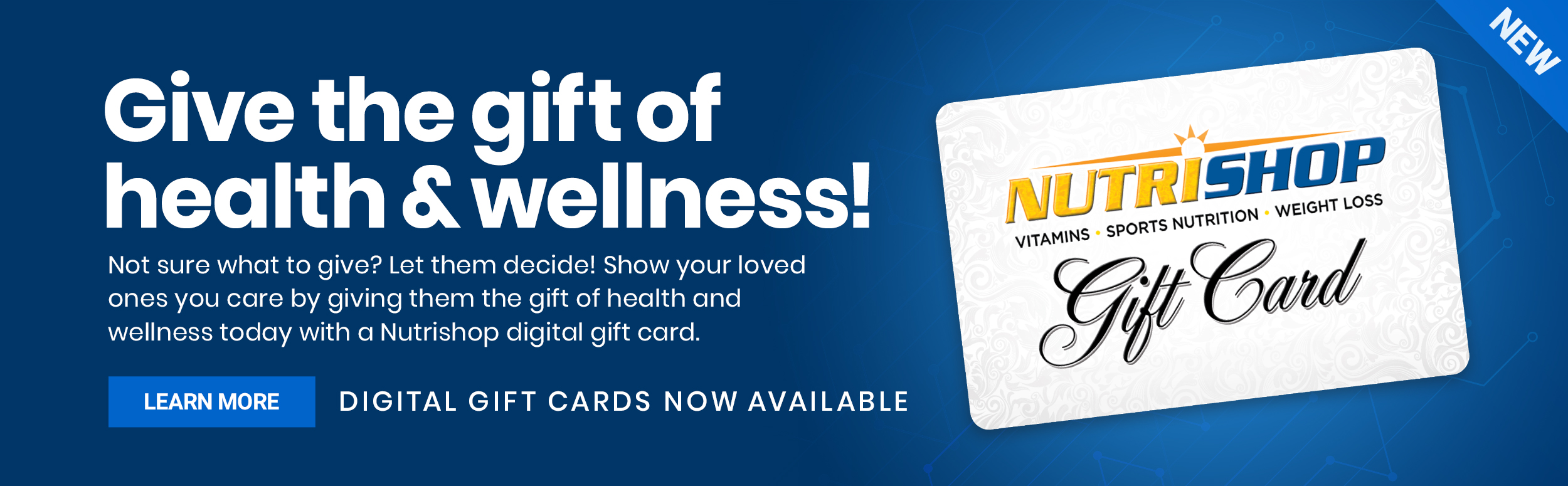 Give the gift of health and wellness. Digital Gift Cards now available