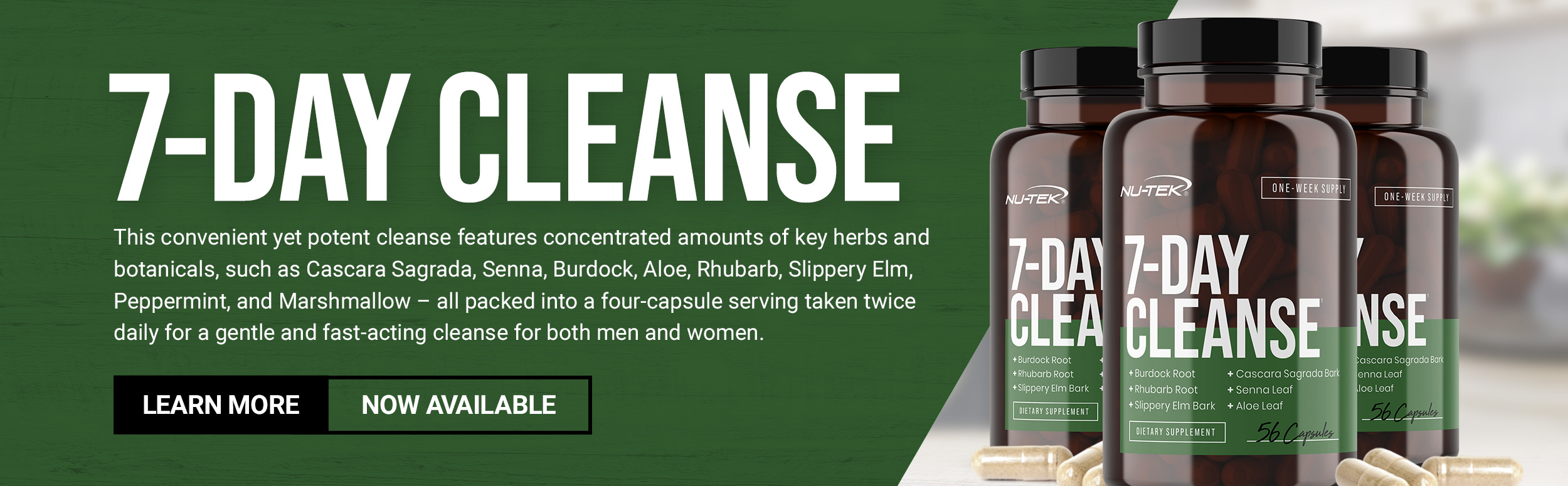 Nu-Tek 7 Day Cleanse Now Available - Learn More