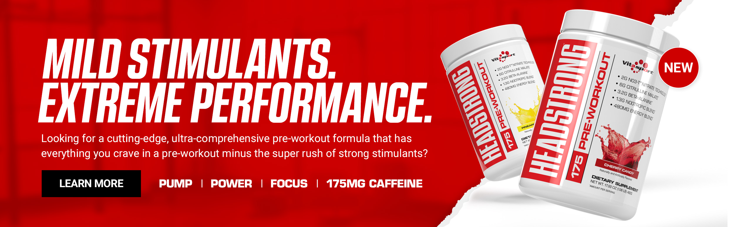 Vitasport Headstrong - Mild Stimulants, extreme performance. Click to Learn more