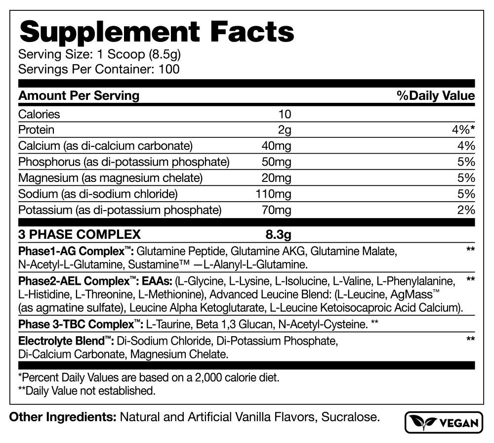 Katalyst Nutraceuticals Glutacor Supplement Facts